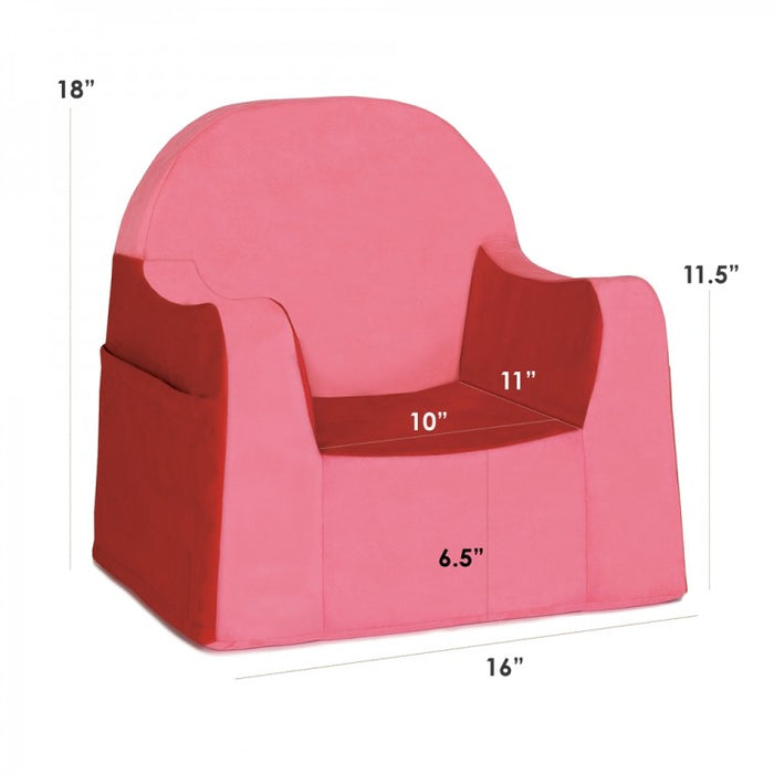 Little Reader Toddler Chair Red Dimensions