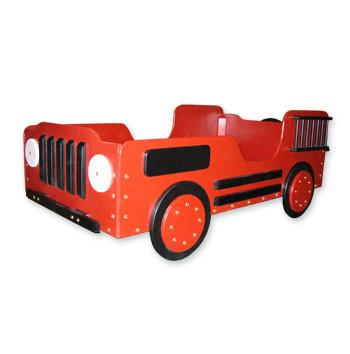 Toddler Fire Truck Bed - Red