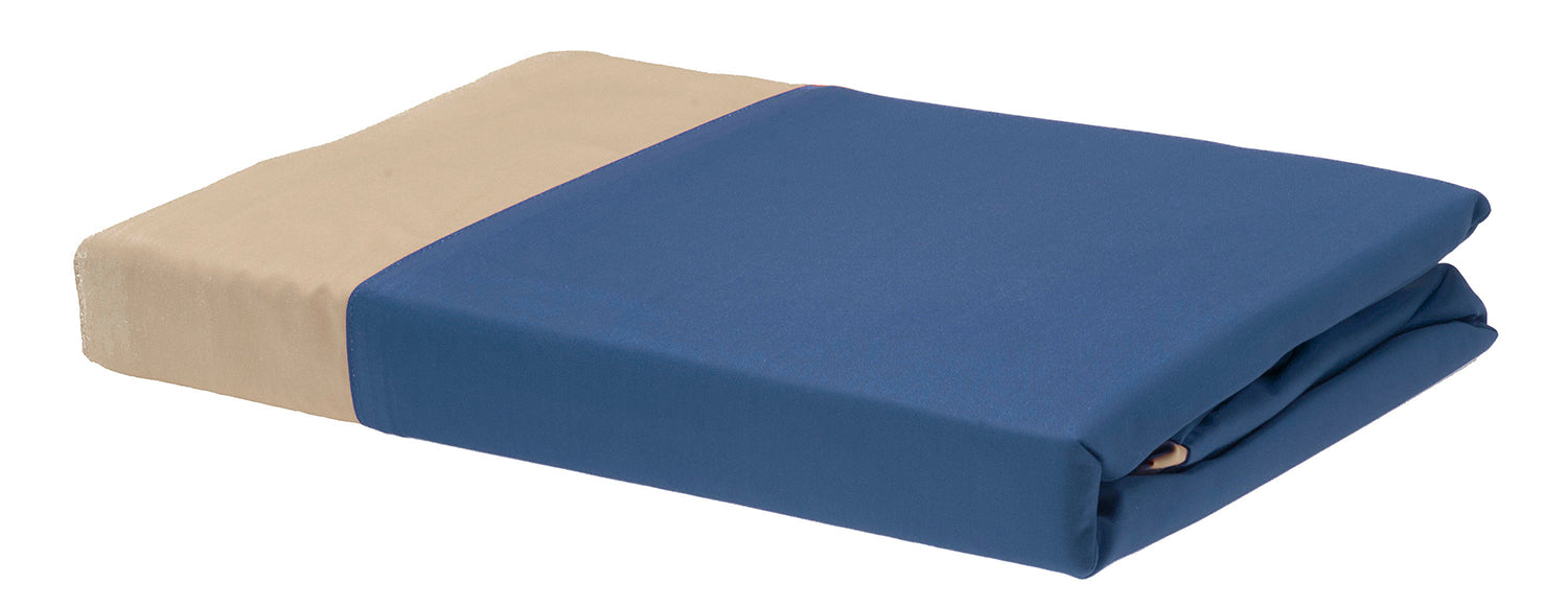 Rayon from Bamboo Duvet Covers - Indigo/Champagne