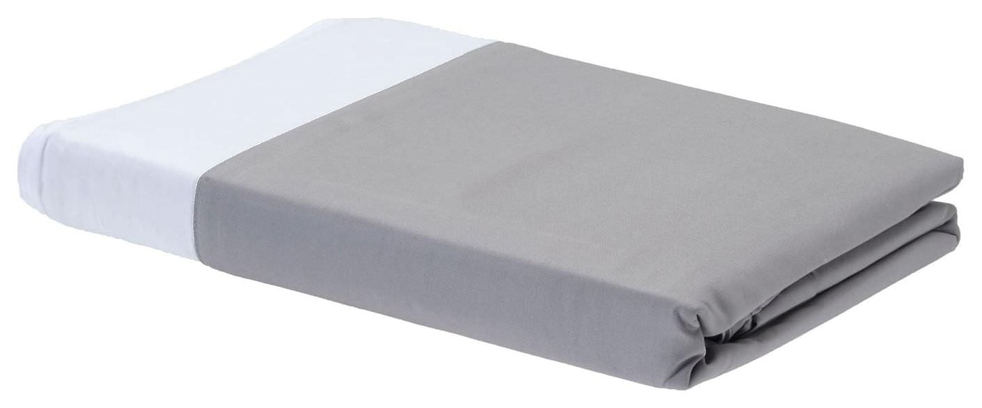 Rayon from Bamboo Duvet Covers - Platinum/White