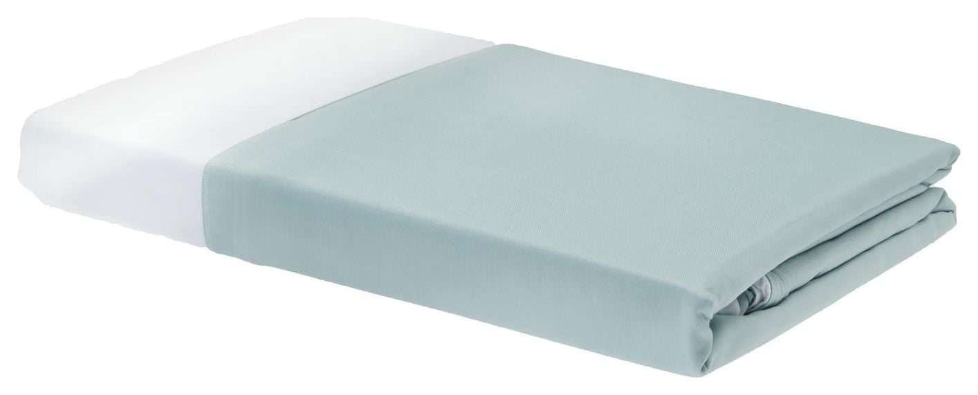 Rayon from Bamboo Duvet Covers - Sky/White