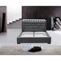 Fine Mod Imports Bianca Modern Bed with Tufted Headboard