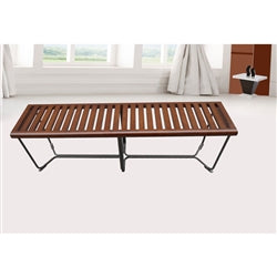 Fine Mod Imports Solid Bench 60 Inches Brown