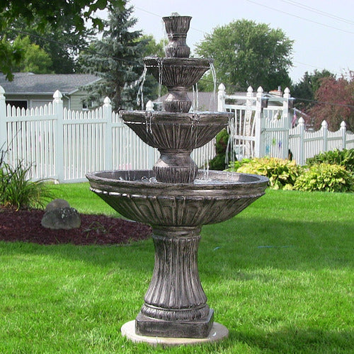Classic 3 Tier Designer Fountain in Dark Brown Finish