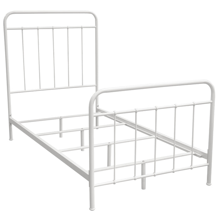 Bailey White Twin Bed