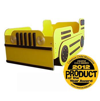 Toddler Bulldozer Bed Yellow