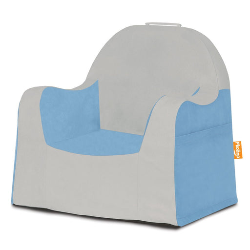 Little Reader Chair - Light Grey and Light Blue