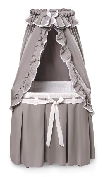 Majesty Baby Bassinet with Canopy - Gray/White