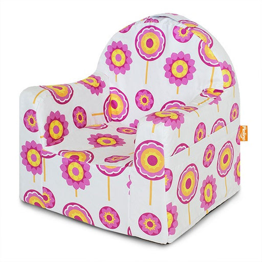 Little Reader Chair Flowers - White and Pink