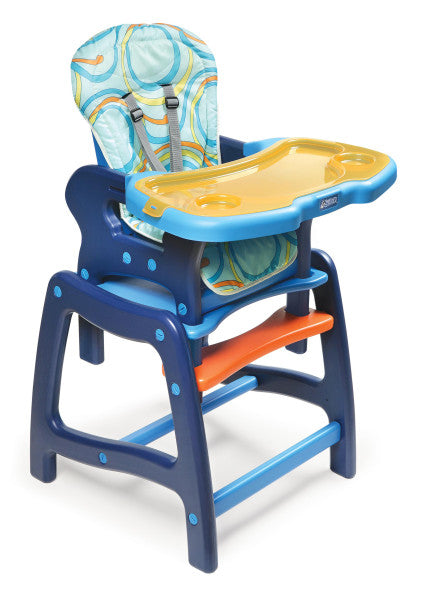 Envee Baby High Chair with Playtable Conversion - Blue/Orange