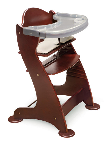 Embassy Wood High Chair with Tray - Cherry