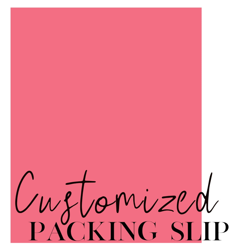 Loyalty Rates: Customized Packing Slip