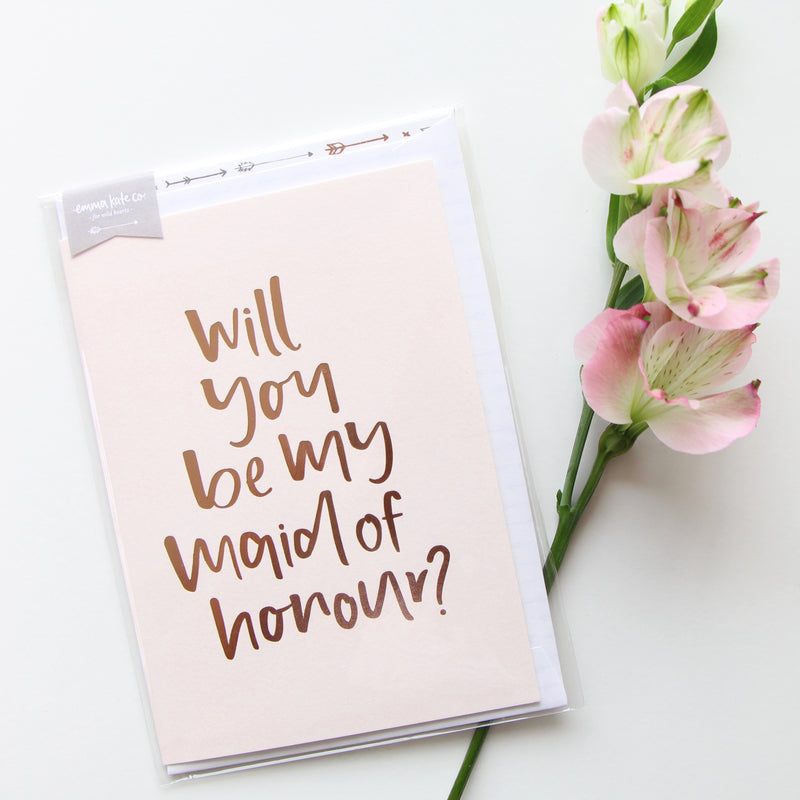 Will You Be My Maid Of Honour // Greeting Card