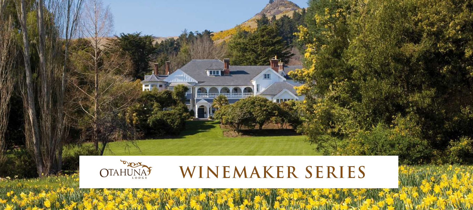 Otahuna Lodge Winemaker's Dinner - Saturday 30th January