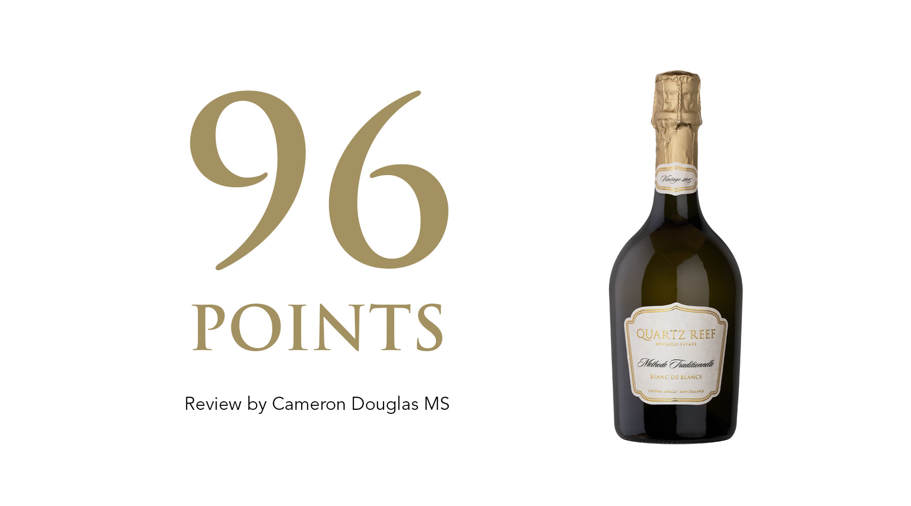 Vintage 2015 Blanc De Blancs - Awarded 96 Points
