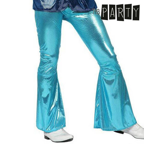 Pantalón para Adultos Th3 Party Disco Brillo Azul