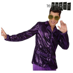 Chaqueta para Adultos Th3 Party Disco Brillo Morado