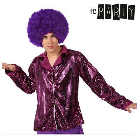 Chaqueta para Adultos Th3 Party Disco Brillo Fucsia