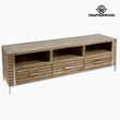 Mueble TV Teca (3 cajones) (160 x 45 x 51 cm) by Craftenwood