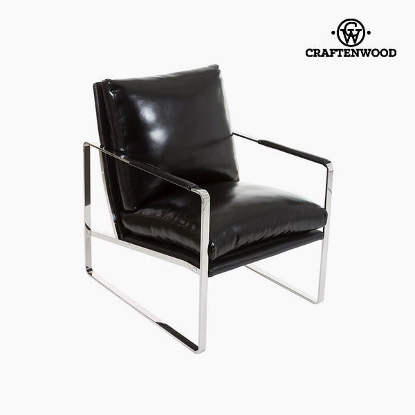 Sillón Polipiel negra (65 x 83 x 87 cm) by Craftenwood