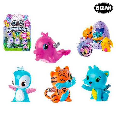 Huevo Mágico Con Animalito Hatchimals Bizak 61921915 (4 pcs)