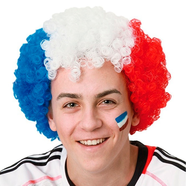 Peluca Afro Bandera de Francia Th3 Party
