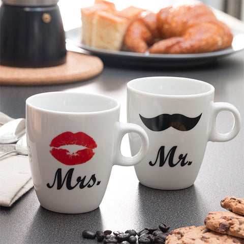 Tazas Mr & Mrs Individuales Romantic Items