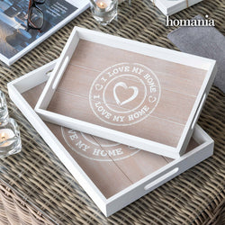 Bandejas I Love My Home by Homania (pack de 2)