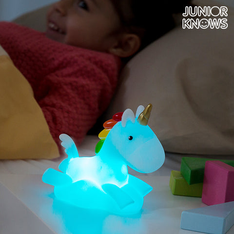 Unicornio Quitamiedos LED Multicolor Junior Knows