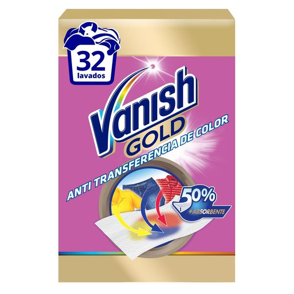 Toallitas Absorbentes de Color Vanish Gold (12 uds)