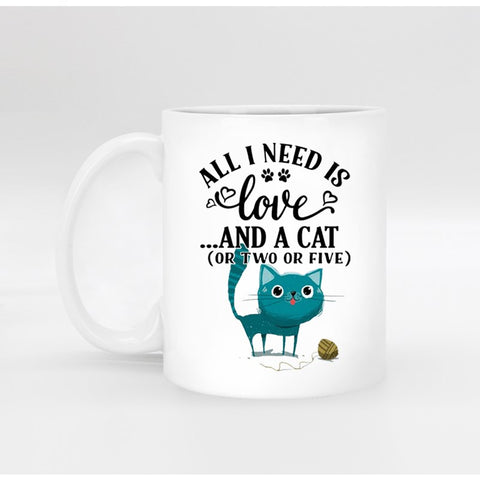 All I Need Is Love...And A Cat Mug - Edgy Cat