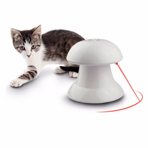 Automatic 360 Degree Laser Pointer Cat Toy - Edgy Cat