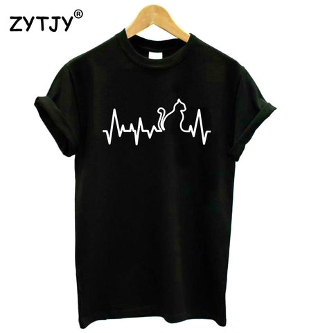 Cat Heartbeat - Women's T-Shirt - Edgy Cat