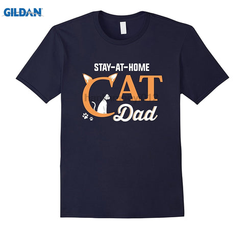 Stay At Home Cat Dad - Men's T-Shirt - Edgy Cat