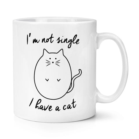 I'm Not Single I Have A Cat Mug - With Stirring Spoon! - Edgy Cat