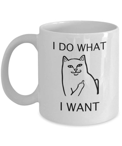 I Do What I Want - 11oz Coffee Mug - Edgy Cat