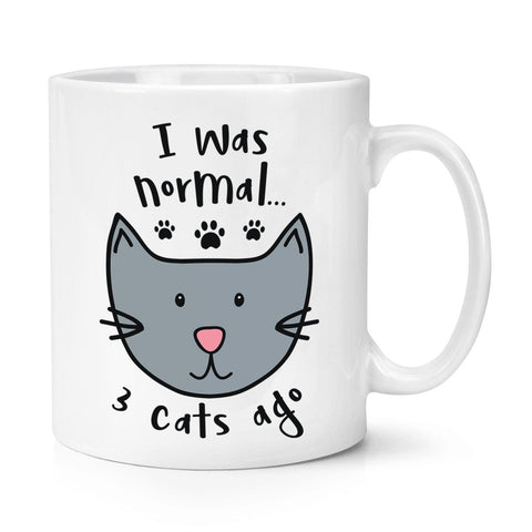I Was Normal 3 Cats Ago Mug - With Stirring Spoon! - Edgy Cat
