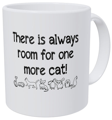 There Is Always Room for One More Cat Mug - With Stirring Spoon! - Edgy Cat