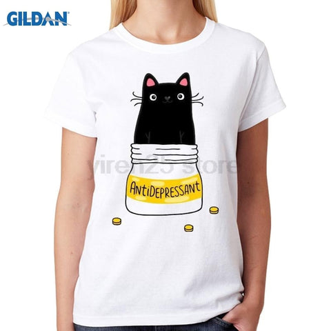 Cat Is My Antidepressant T-Shirt - Edgy Cat