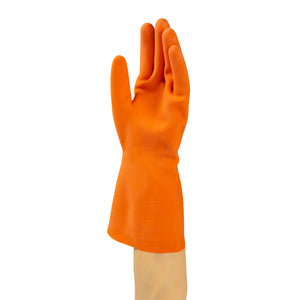 Glove Rubber HW Orange Flocklined, Case 6x20