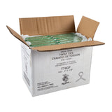 "Twist Tie 4x1/8"" Green Paper, Case 2000x25"