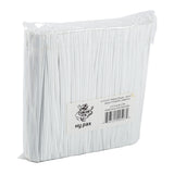 "Twist Tie 6x1/8"" White Plastic, Case 2000x25"