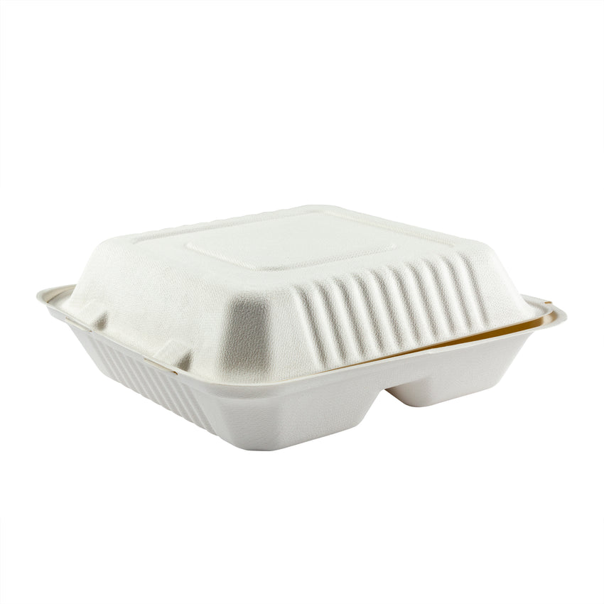 Clamshell 3 Compartment Bagasse Large Size, Case 50x4