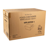 Take Out Food Container #1 White, Case 50x9