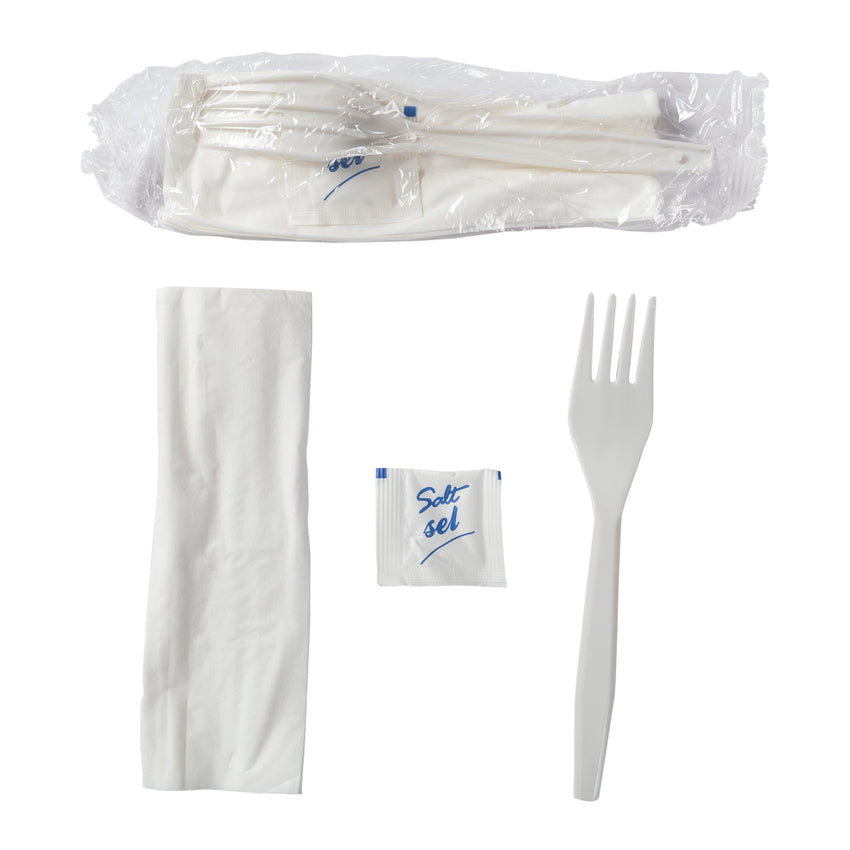 Meal Kit 3pc Polypropylene White, Case 1000