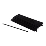"Straw Cocktail Super 10"" Black, Case 2500"
