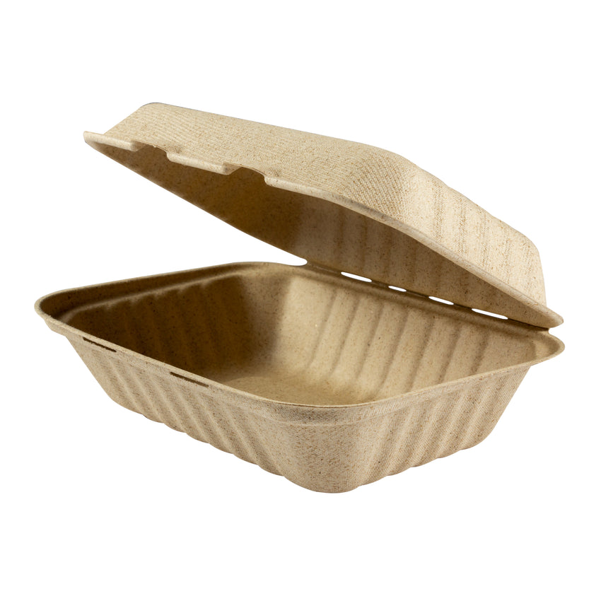 Clamshell Bagasse Rectangle Palm Plus, Case 50x4