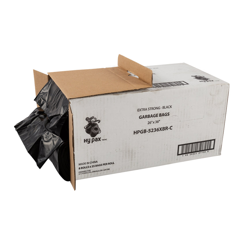 Garbage Bag 26x36 Extra Strong Black, Case 25x8