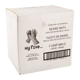 "Beard Net Disposable Large 1/8"" White, Case 100x10"