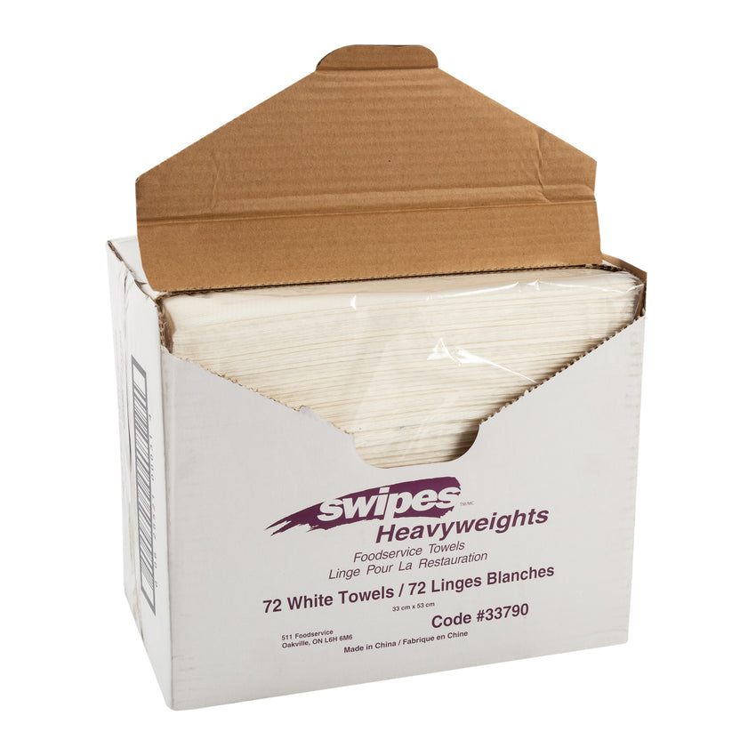 "Towel FS Heavy Duty 13x21"" White, Case 72"